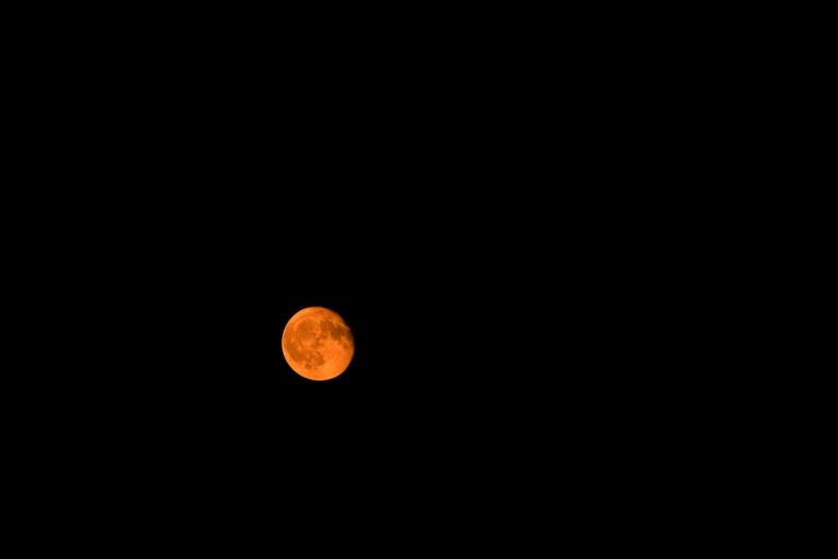 Red-ish Orange Moon!